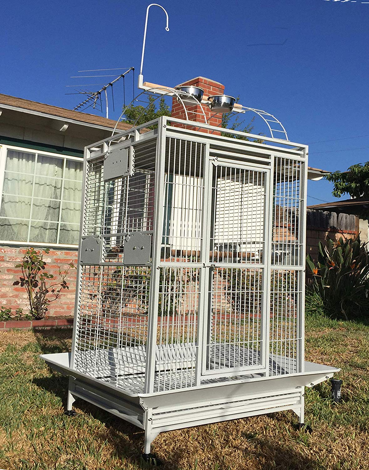 New Large Top Perch Ladder Bird Parrot Finch Macaw Cockatoo Cage