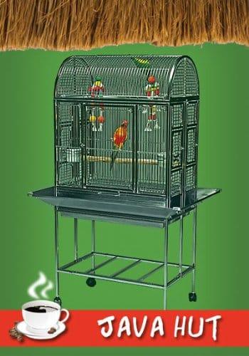Java Hut Haven Stainless Steel Bird Cage
