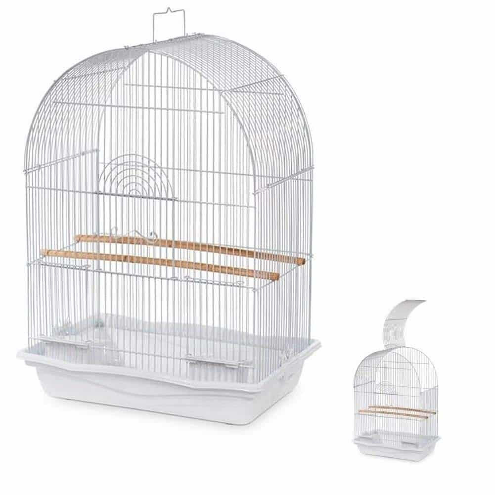 Prevue Pets White Arched Top Companion Bird Cage