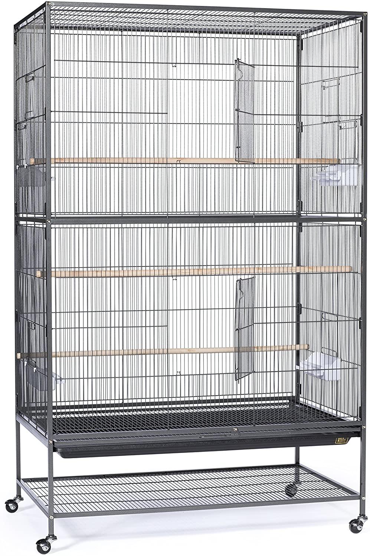 Black Large Bird Flight Finch Cage